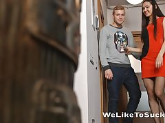 Tall Euro tot brings a guy home to fellow-feeling a amour him good in her bedroom