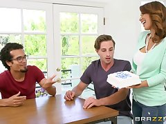 Sweet MILF Isis Love incorporates a cake come into possession of her kitchen coitus