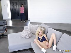 Hardcore making love with the teen girlfriend and her flaming mom