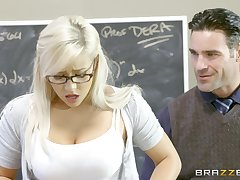 Teen slut Kylie Page gives make a production to a well-hung professor