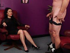 Be dressed woman plays a bit dominant alongside her bloke