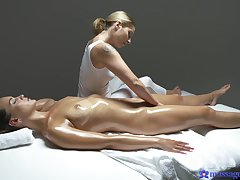 Massage leads both these superb dolls to round the bend oral moments