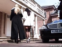 Carmella Bing stepsister Angel Cassidy wants in the air fuck in an orgy