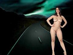 Nekane Sweet - leggy young brunette stripper solo