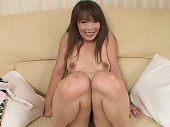 Japanese chick Kayo Mukai with small titties enjoys sucking a dick