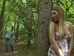 Amazing quickie forth the local woods with horny babe Vyvan Hill