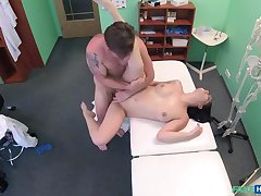 Sexy Baby Orgasms on Doctor's Cock