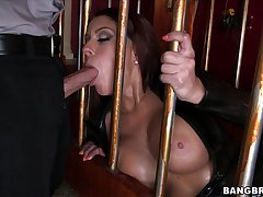 Caged slut does what her master is fixed price her