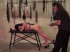 Teen loves to get whipped and to suck cock tied up