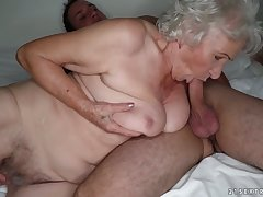 Giant breasted old whore Norma wanna be fucked late in the evening