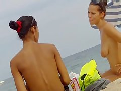Voyeur Topless Beach Big Natural Tits Video