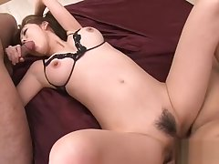 Wild anal sexual connection be advantageous to cute Asian schoolgirl