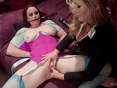 Counterfoil lesbian fingering and licking Simone Sonay wants here cum badly