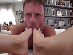 Sex crazed Italian macho Rocco Siffredi fucks a crazy Russian girl from Moscow
