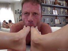 Sex crazed Italian macho Rocco Siffredi fucks a crazy Russian girl from Moscow