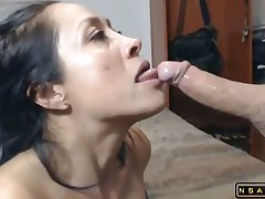 Rough face fucking hot latina milf