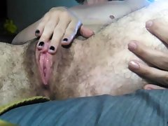 Mika A is thin and hairy and she likes to masturbate