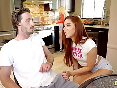 Hot redhead Vanna Bardot doesn't be fond of whose stepbrother she is fucking