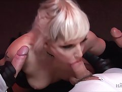 Duo hanker cocks can burn the fervour in stunning blonde Alexandra Gyrate