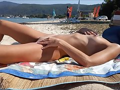 Real amateur tie the knot naked everywhere public beach