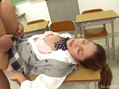 A first time sexual delight for the mere Japanese schoolgirl