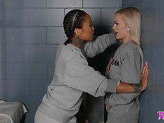 Prison poof coitus with two hot girls Honey Gold and Alex Grey