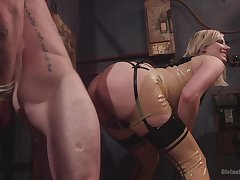 Feature sedentary porn and femdom XXX with a hot blonde