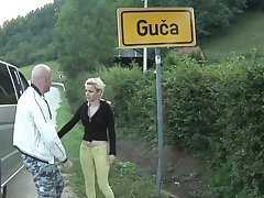 Two Serbian women hitchhiking