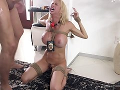 Filial join in matrimony Alexis Fawx tied up and unwrought fucked in indiscretion and cunt