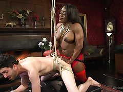 Hot baleful Kelli Provocateur enjoys BDSM and sex games with a dude